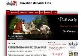 Snapshot del sito Cavalieri di Santa Fina